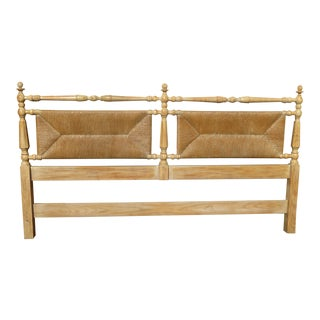 1970s Vintage Davis Fine Furniture French Country King Size Headboard For Sale