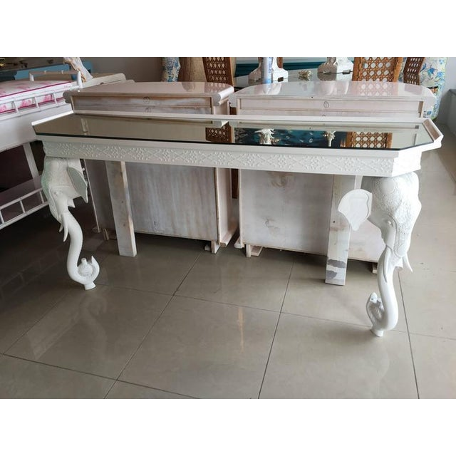 Gampel-Stoll White Elephant Console Table - Image 9 of 12