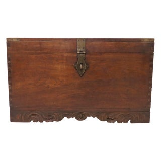 Antique 19th Century Anglo Indian Military Campaign or Blanket Chest For Sale