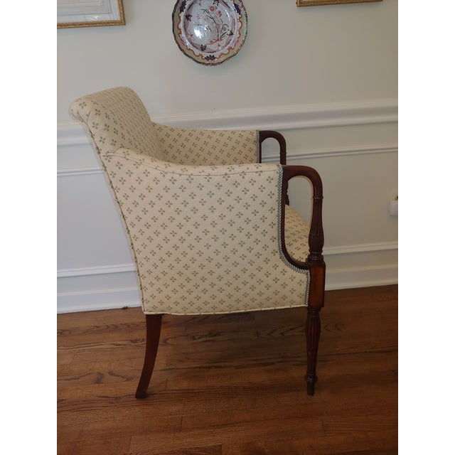 Council Furniture Pull Up Chairs Upholstered in Scalamandre - A Pair For Sale In Pittsburgh - Image 6 of 8