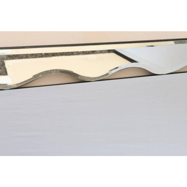 1950s Hollywood Regency Monumental Scalloped Horizontal Mirror For Sale - Image 4 of 9