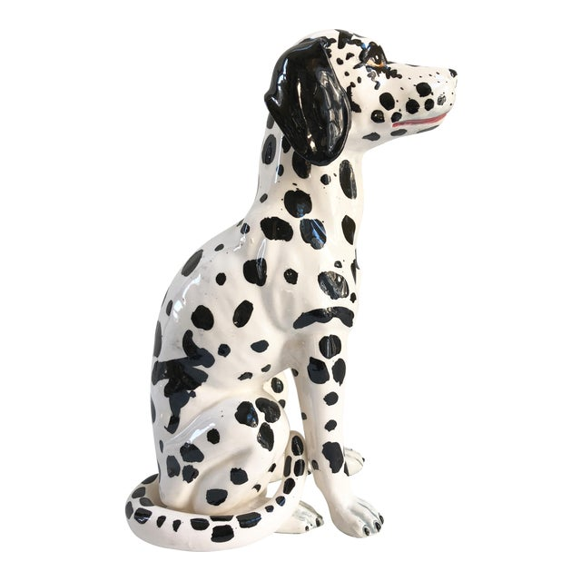 Mid-Century Large Italian Dalmatian Dog Statue For Sale