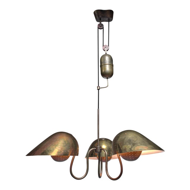 High end carl axel acking chandelier with counterweight sweden carl axel acking chandelier with counterweight sweden 1940s image 1 of 5 aloadofball Images