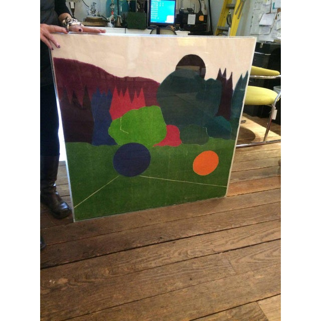 Large and vibrant, this abstract silkscreen is an artist's proof and is signed and dated lower right (Kennedy(?) '81. It...