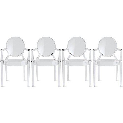 Acrylic Philippe Starck Ghost Chairs - Set of 4 For Sale - Image 7 of 7