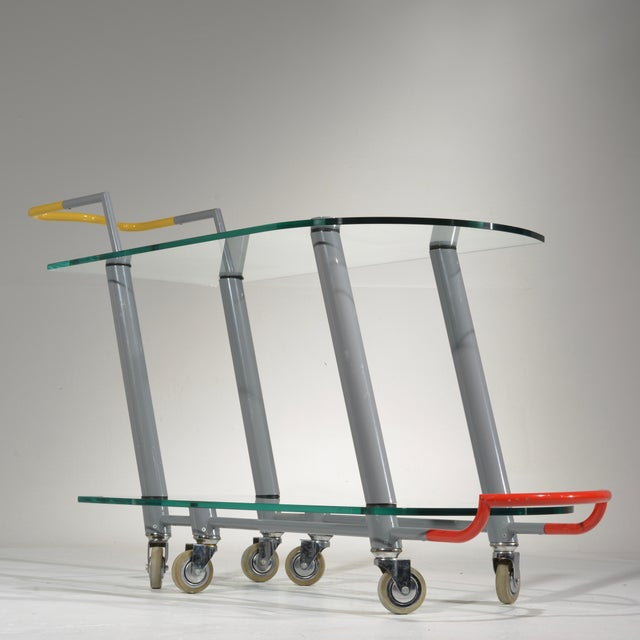 Hilton Trolly Bar Cart by Javier Mariscal for Memphis, 1981 For Sale - Image 11 of 13