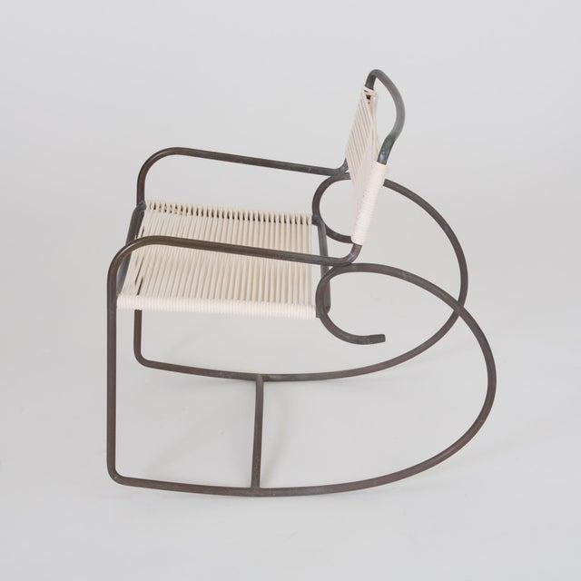 Brown Jordan Single Walter Lamb Rocking Chair for Brown Jordan For Sale - Image 4 of 7