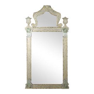 Venetian Engraved Mirror For Sale