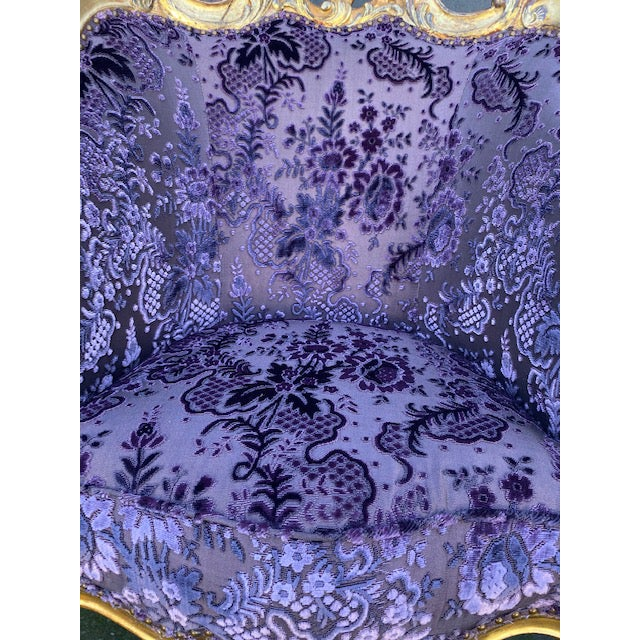 Late 19th Century Vintage Italian Giltwood Chair For Sale - Image 11 of 13