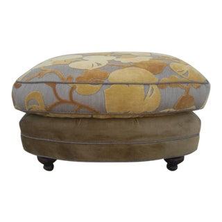 1980s Vintage Custom Upholstered Ottoman For Sale