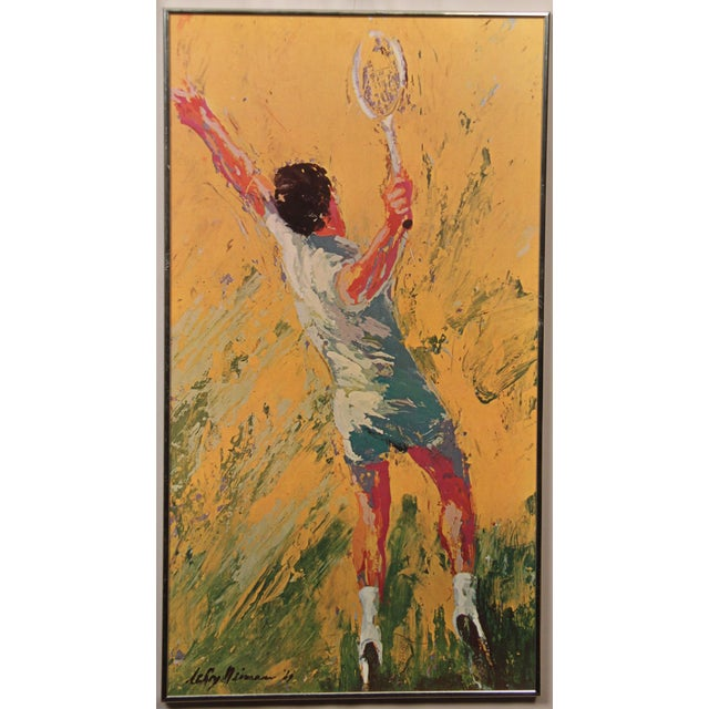 """Leroy Neiman LeRoy Neiman """"The Tennis Player"""" Framed Print For Sale - Image 4 of 4"""