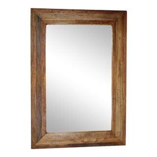 Large Teak Wood Mirror For Sale