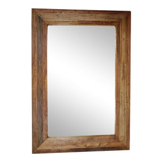 Teak Wood Mirror For Sale