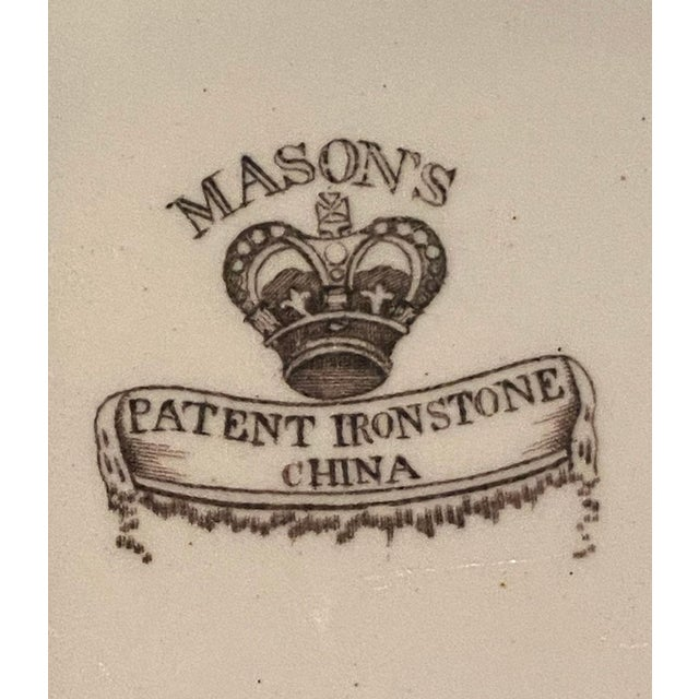 Antique Mason's Ironstone Chinoiserie Luncheon or Dinner Plates — Set of 6 For Sale - Image 10 of 11