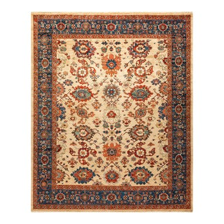 One-Of-A-Kind Oriental Serapi Hand-Knotted Area Rug, Sandcastle, 8' 2 X 9' 9 For Sale