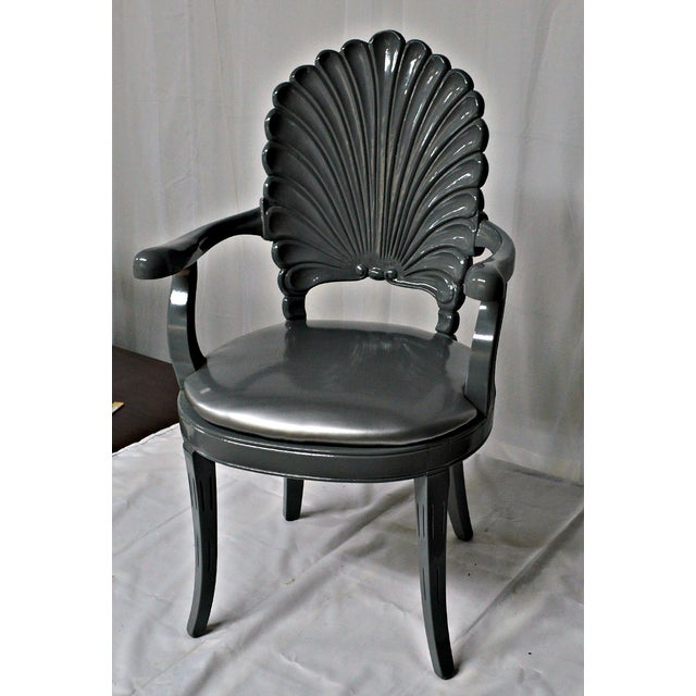 Silver Shell Armchair | Chairish