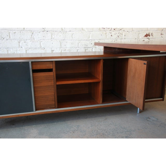 Metal George Nelson for Herman Miller L-Shaped Executive Desk, 1950s For Sale - Image 7 of 13
