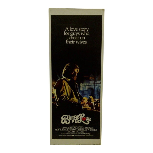 """Blume in Love"" 1973 Vintage Movie Poster For Sale"