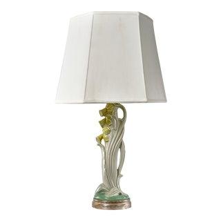 Vintage Art Nouveau Ceramic Table Lamp For Sale