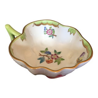 Vintage Herend Queen Victoria Leaf Dish For Sale