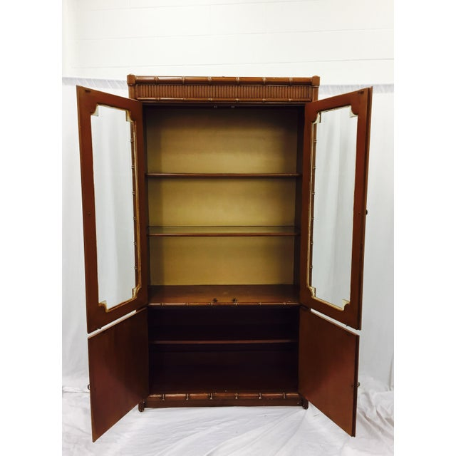 Vintage Chippendale Style China Cabinet - Image 9 of 10