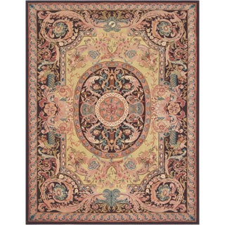 Mansour Exquisite Handmade Savonnerie Rug For Sale
