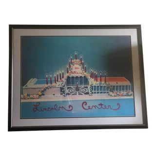 Signed Larry Rivers Lincoln Center Lithograph