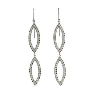 18k White Gold Diamond Earrings by Hami For Sale