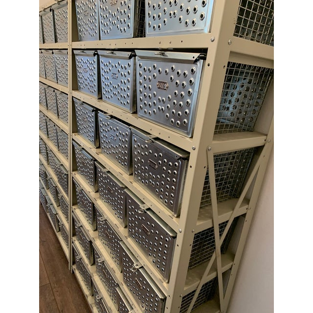 Vintage Industrial Wire Swim and Gym Baskets With Shelving Set of 2 For Sale - Image 9 of 13