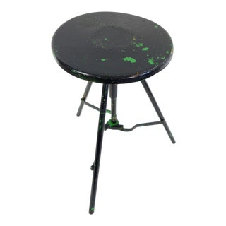 Vintage Collapsable Milking Stool For Sale