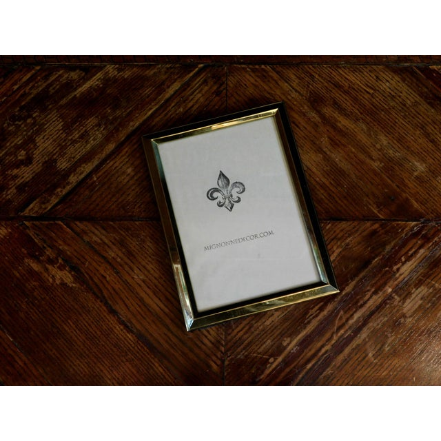 1980s 1980s Traditional Brass 5x7 Frames - a Pair For Sale - Image 5 of 8