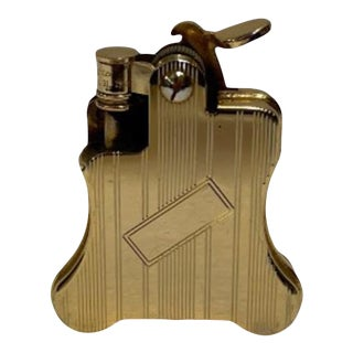 1990s Gold Plated Ronson Banjo Styled Petrol Lighter, Japan For Sale