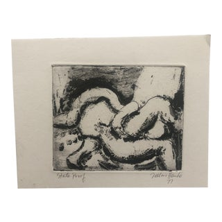 Abstract Etching by Della Henke, 1977 For Sale