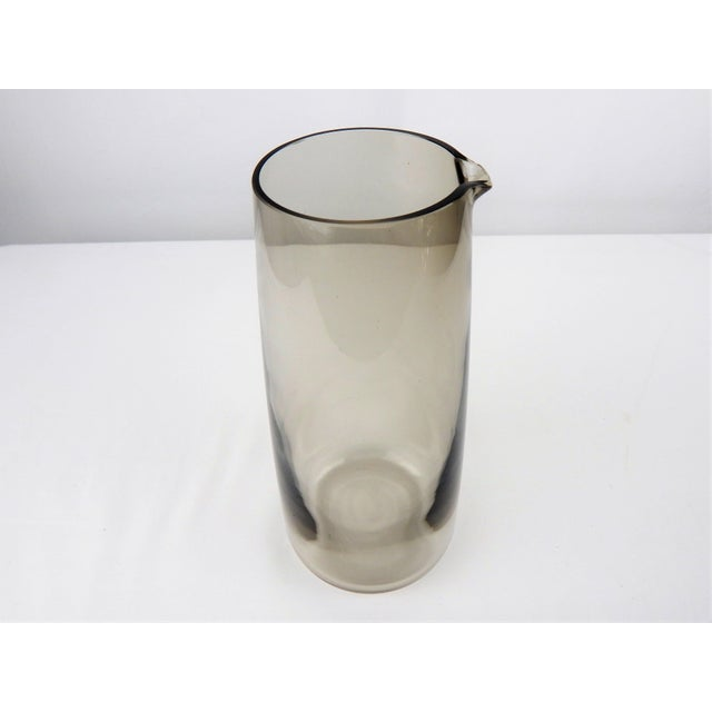 Mid Century Smoked Glass Martini Pitcher For Sale In Orlando - Image 6 of 8