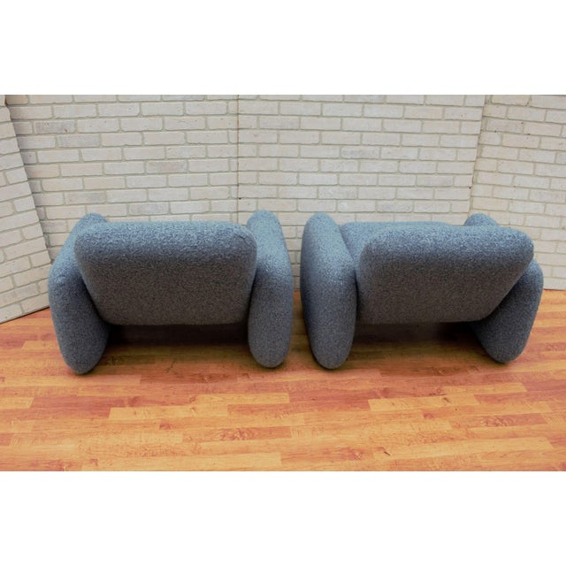 Mid Century Modern Ray Wilkes for Herman Miller Blue Chiclet Lounge Chairs - a Pair For Sale In Chicago - Image 6 of 9