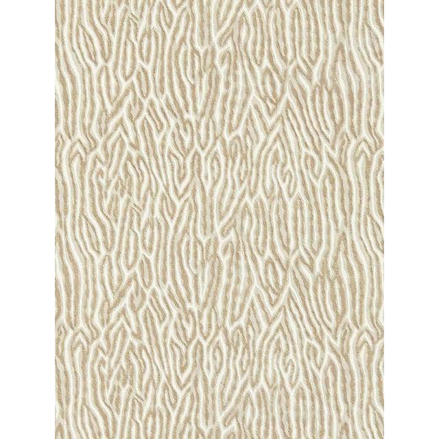 Scalamandre Faux Bois Velvet, Fog Fabric For Sale