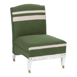 Casa Cosima Sintra Chair in Verdure Linen For Sale