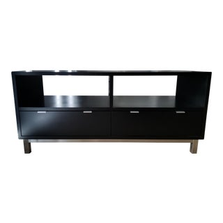 Contemporary Room & Board Copenhagen Ebony Media Cabinet For Sale
