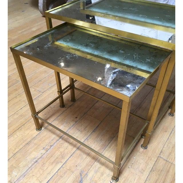 Marc Duplantier Marc Du Plantier Refined Gold Bronze 3 Nesting Tables For Sale - Image 4 of 8