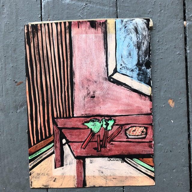 """Collection 11 Original Vintage Gouache Paintings """"Sur La Table"""" For Sale - Image 9 of 13"""