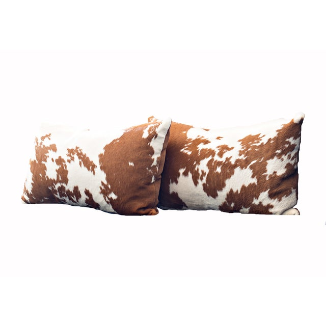 Not Yet Made - Made To Order Calf Hide Hair Lumbar Pillows For Sale - Image 5 of 5