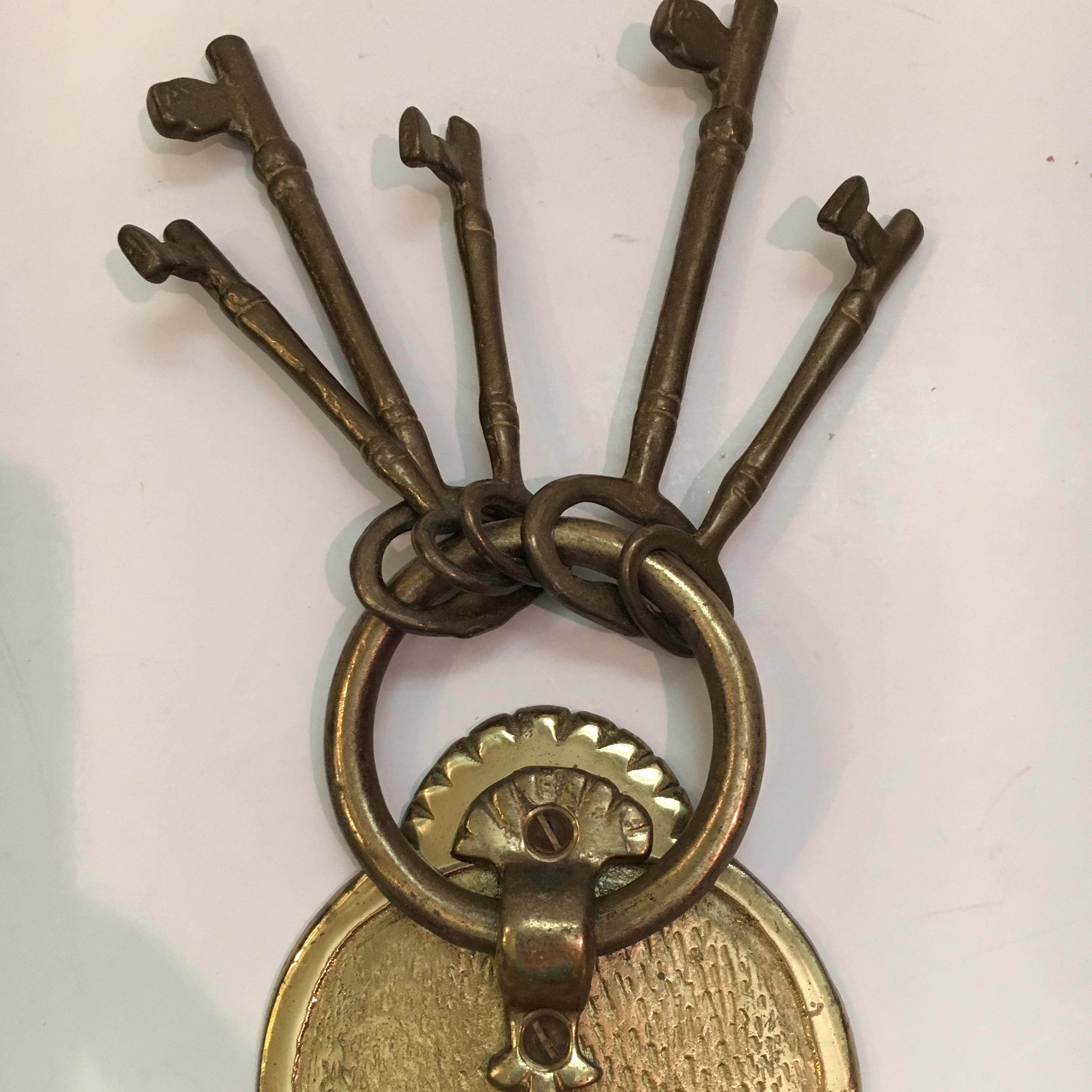 Gentil Vintage Brass Lock U0026 Keys Door Knocker For Sale In Houston   Image 6 ...