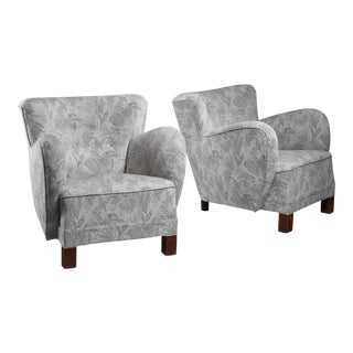 Pair of Danish lounge chairs, 1940s
