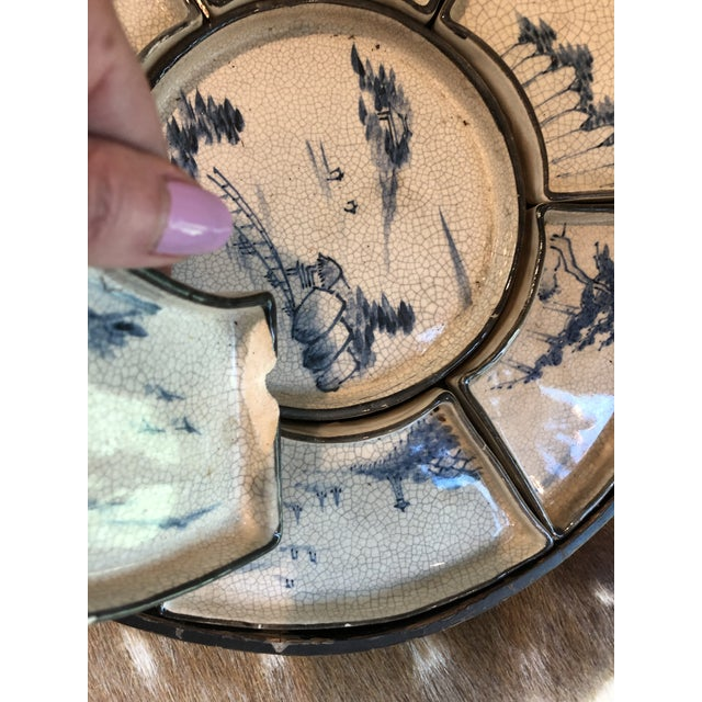 Asian Antique Asian Dim Sum Tray For Sale - Image 3 of 6