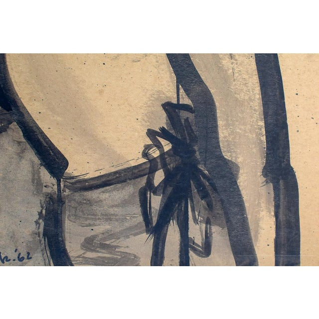 """1960s Vintage David Jacobs """"Untitled"""" Portrait of Man on Board Painting For Sale In Washington DC - Image 6 of 7"""