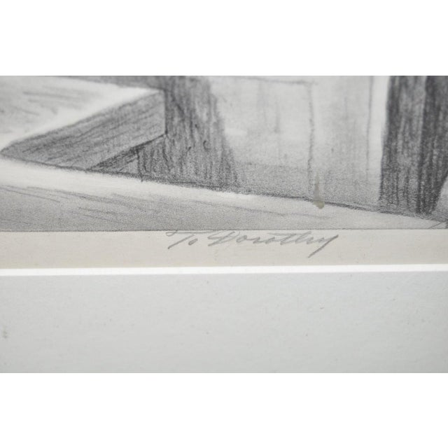 Charles Locke Pencil Signed Lithograph For Sale - Image 4 of 9