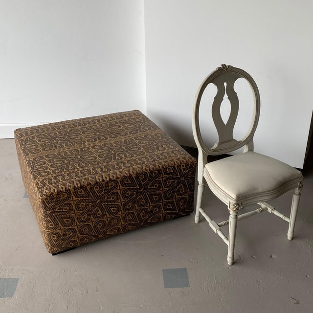 Boho Chic Borneo Mat Coffee Table For Sale In West Palm - Image 6 of 9