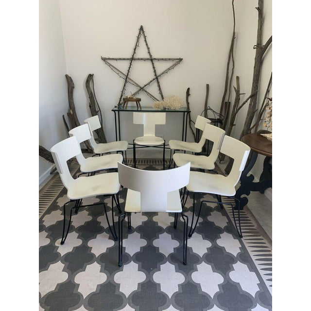 1990s Vintage Donghia Anziano Dining Chairs in White - Set of 8 For Sale - Image 5 of 11