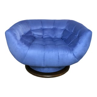 Adrian Pearsall Monumental Swivel Lounge Chair For Sale