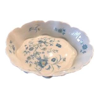 Haviland Limoges Blue Flowered Nut Dish